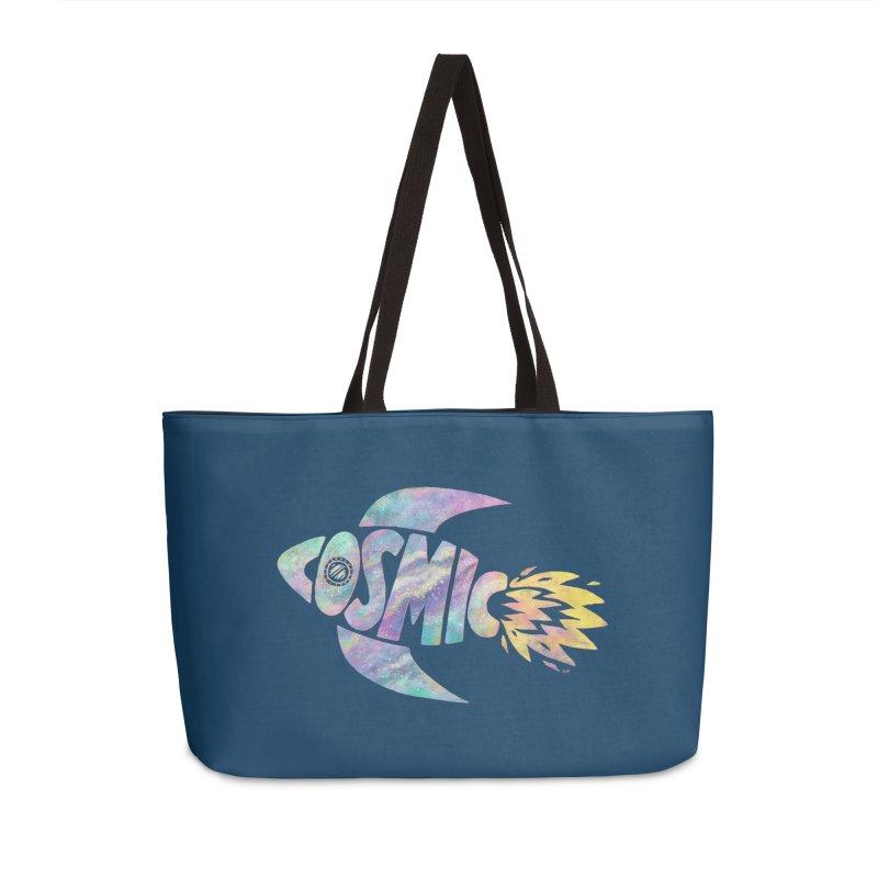 Cosmic Spaceship Accessories Weekender Bag Bag by Lupi Art + Illustration