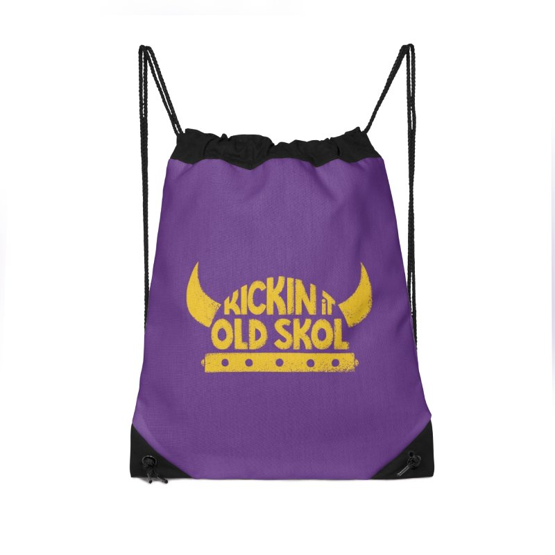 Old Skol (Football edition) Accessories Drawstring Bag Bag by Lupi Art + Illustration