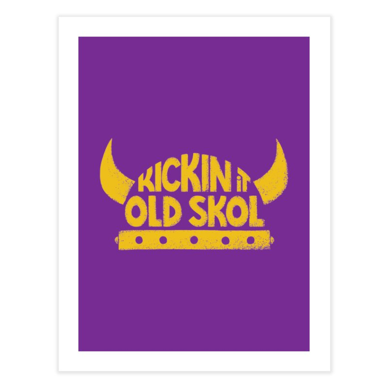 Old Skol (Football edition) Home Fine Art Print by Lupi Art + Illustration