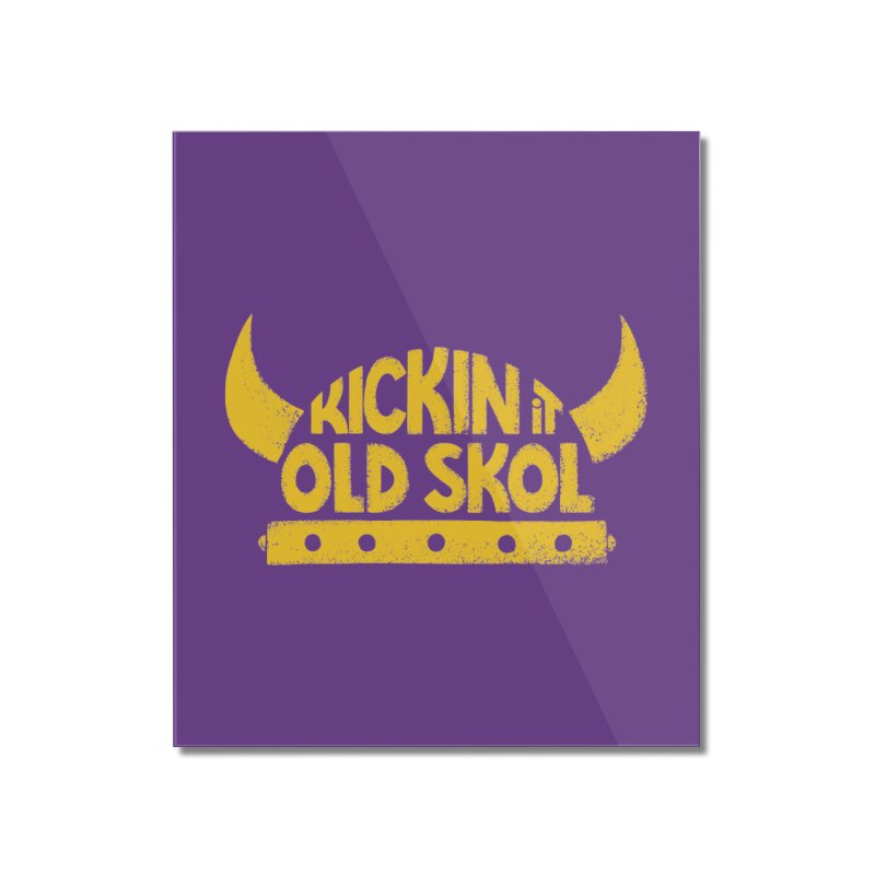 Old Skol (Football edition) Home Mounted Acrylic Print by Lupi Art + Illustration