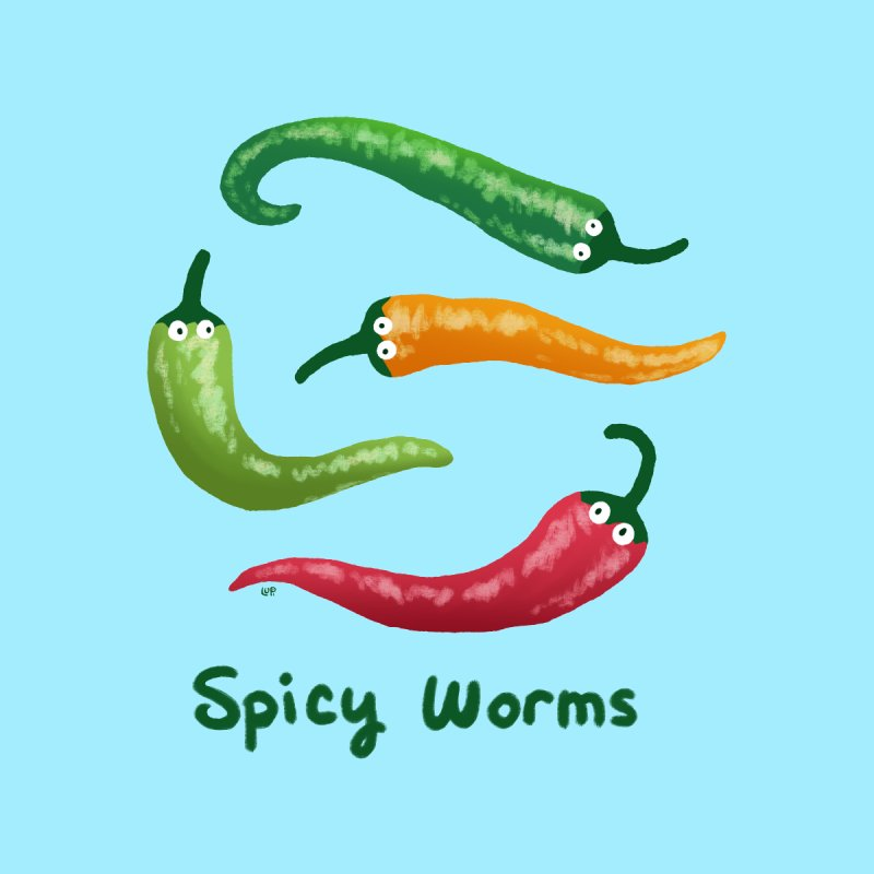 Spicy Worms by Lupi Art + Illustration