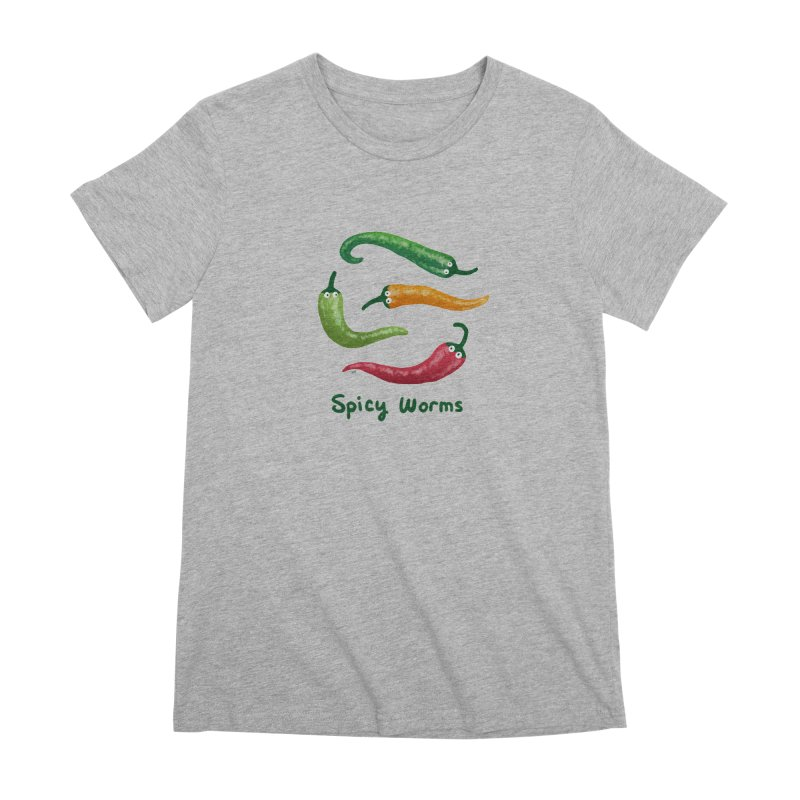 Spicy Worms Women's Premium T-Shirt by Lupi Art + Illustration
