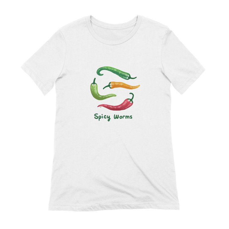Spicy Worms Women's Extra Soft T-Shirt by Lupi Art + Illustration