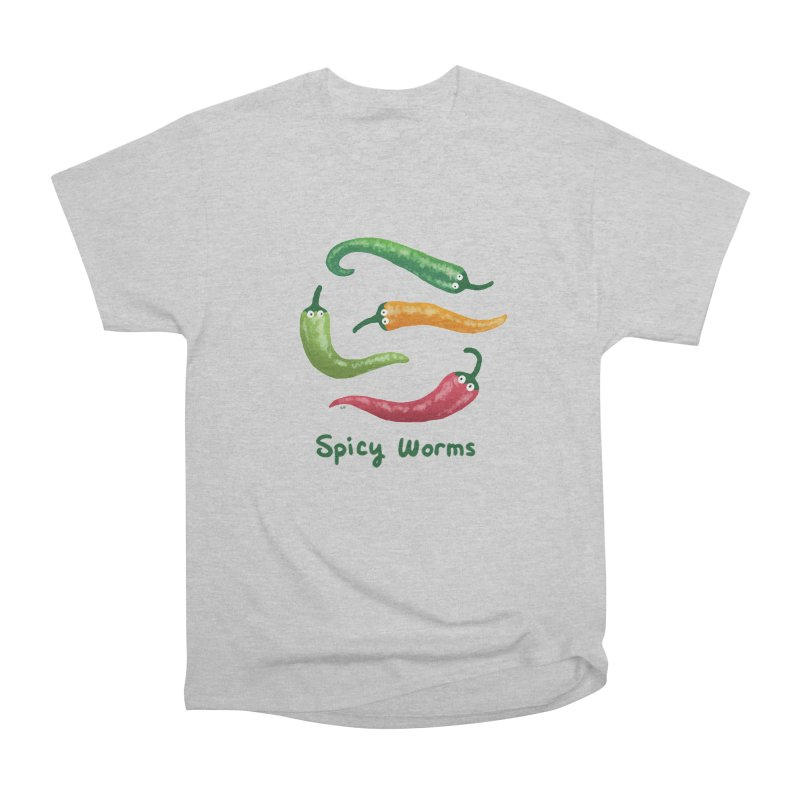 Spicy Worms Straight Cut T-Shirt by Lupi Art + Illustration