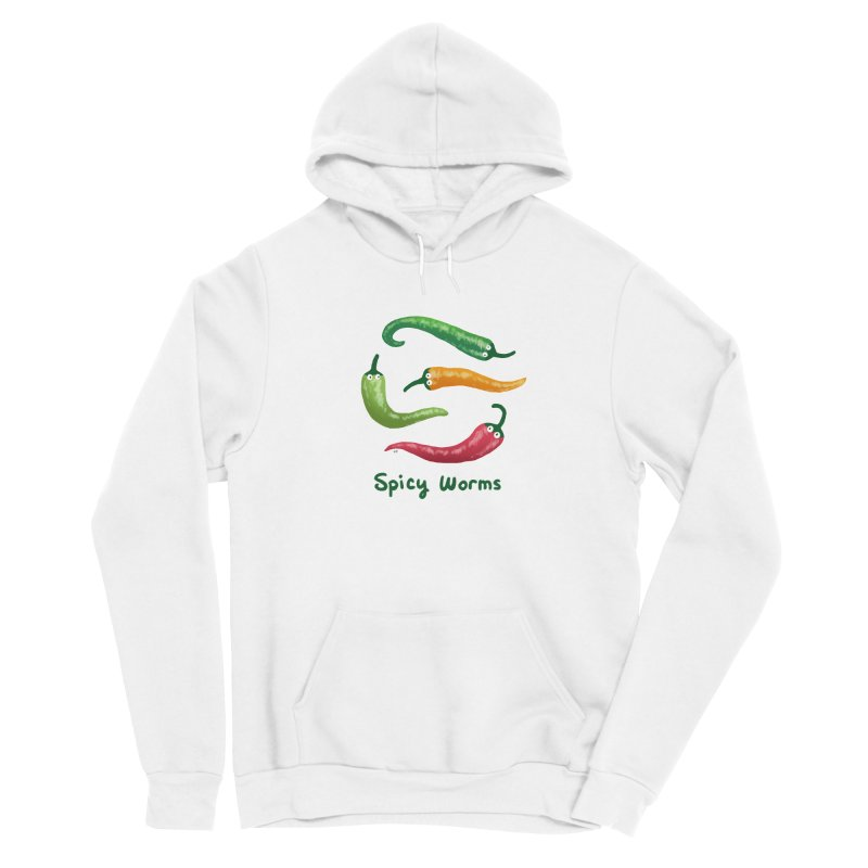 Spicy Worms Men's Sponge Fleece Pullover Hoody by Lupi Art + Illustration