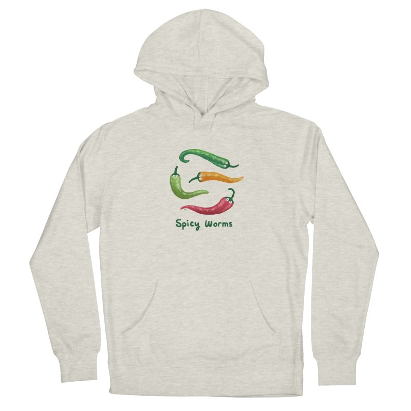 Spicy Worms Men's French Terry Pullover Hoody by Lupi Art + Illustration