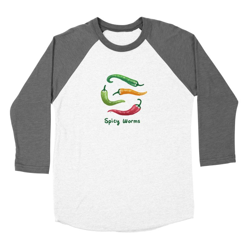 Spicy Worms Women's Baseball Triblend Longsleeve T-Shirt by Lupi Art + Illustration