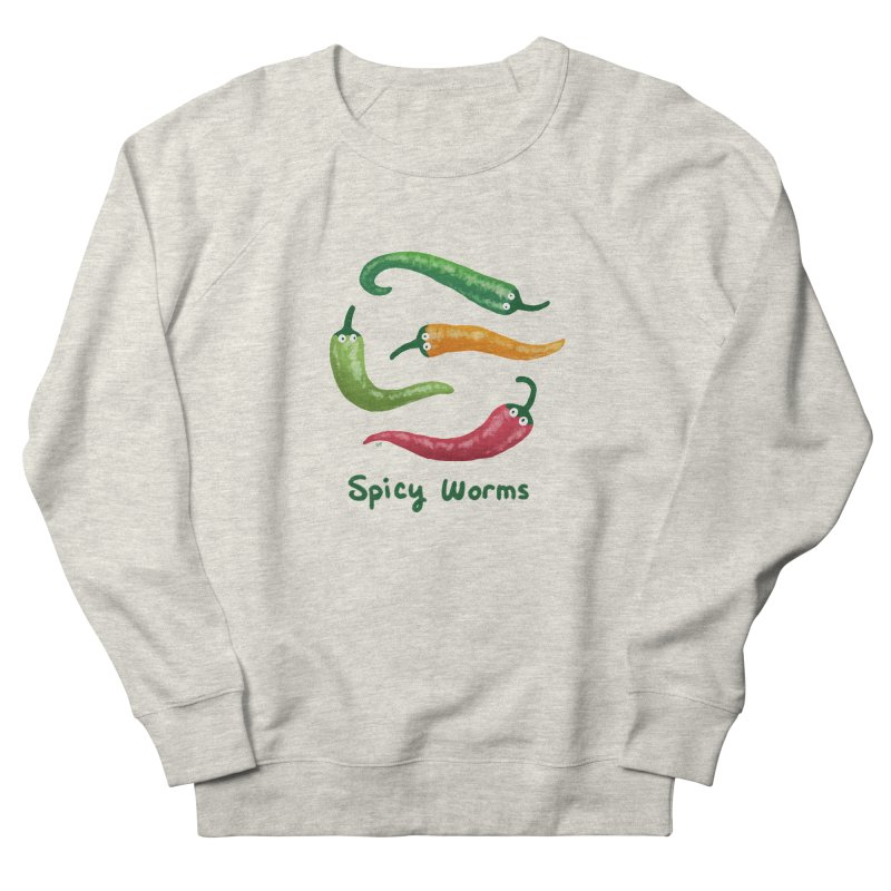 Spicy Worms Women's Sweatshirt by Lupi Art + Illustration