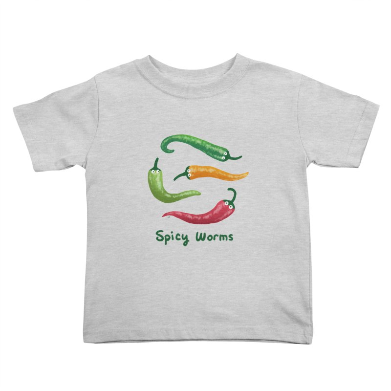 Spicy Worms Kids Toddler T-Shirt by Lupi Art + Illustration