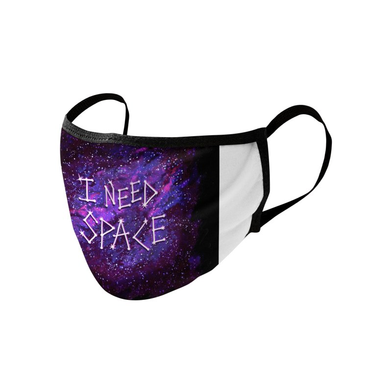 I Need Space Accessories Face Mask by Lupi Art + Illustration