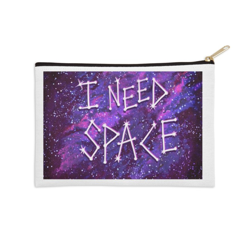 I Need Space Accessories Zip Pouch by Lupi Art + Illustration