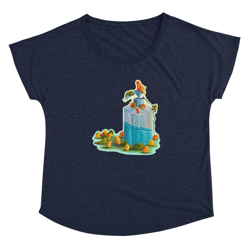 Germs are Everywhere Fitted Scoop Neck by Lupi Art + Illustration