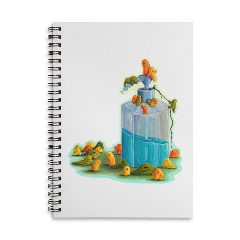 Germs are Everywhere Accessories Notebook by Lupi Art + Illustration