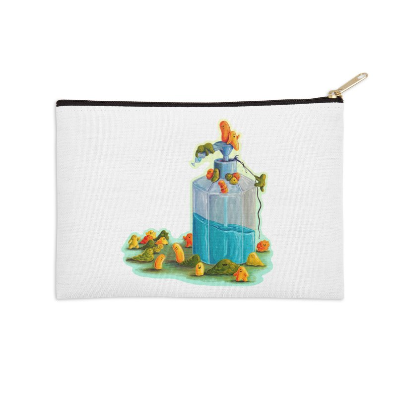 Germs are Everywhere Accessories Zip Pouch by Lupi Art + Illustration