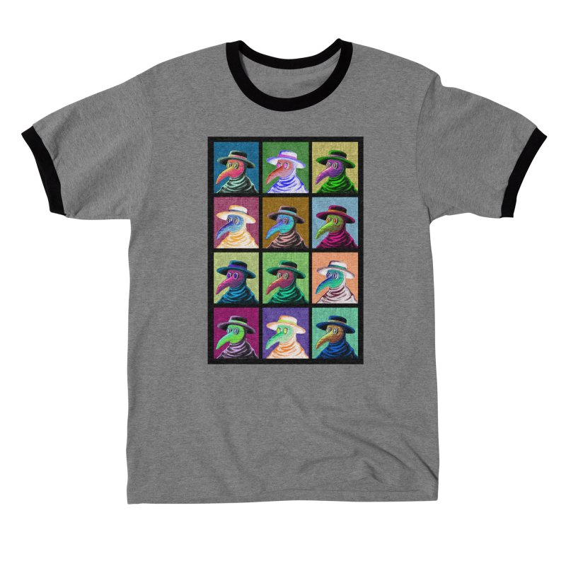 Pop Art Plague Doctor Fitted T-Shirt by Lupi Art + Illustration