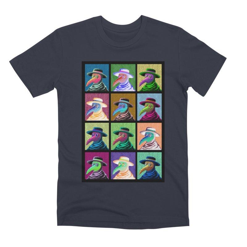 Pop Art Plague Doctor Men's T-Shirt by Lupi Art + Illustration