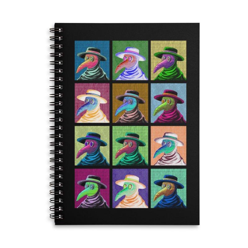 Pop Art Plague Doctor Accessories Notebook by Lupi Art + Illustration