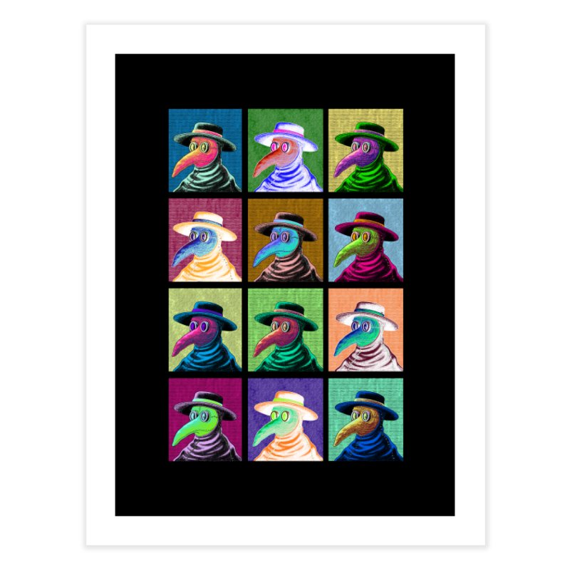 Pop Art Plague Doctor Home Fine Art Print by Lupi Art + Illustration