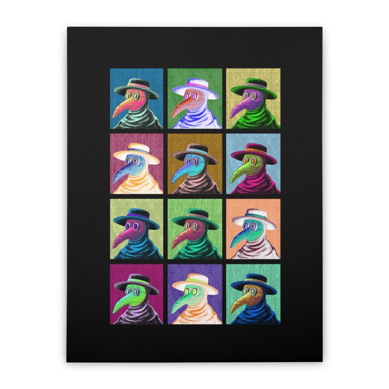 Pop Art Plague Doctor Home Stretched Canvas by Lupi Art + Illustration