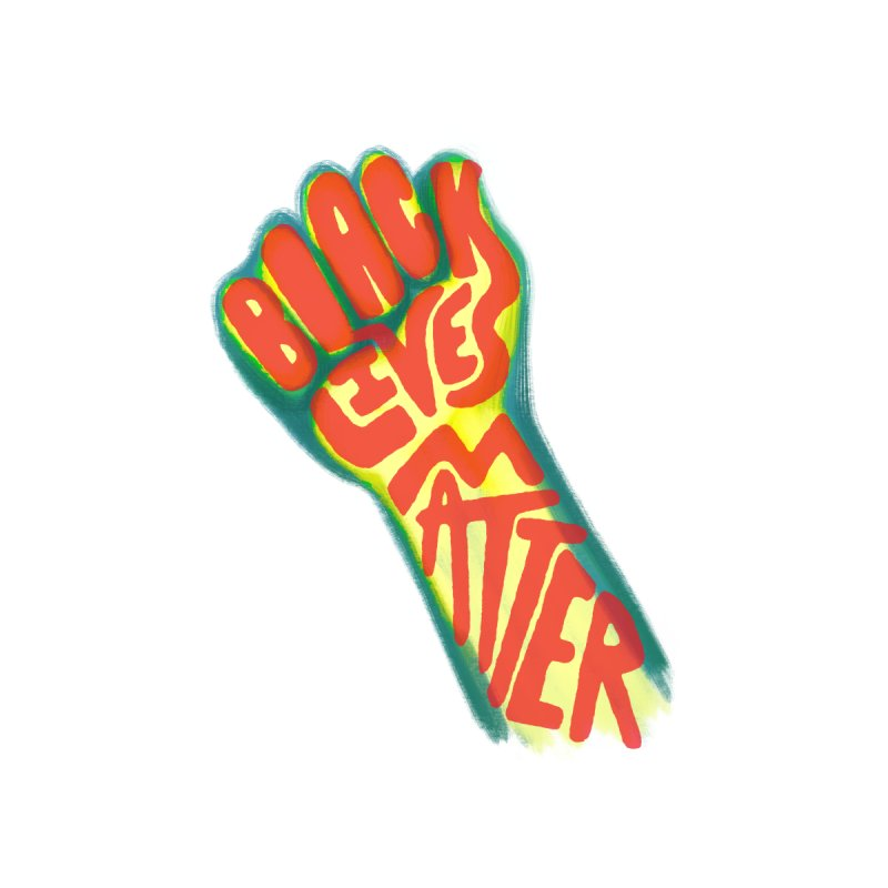 Black Lives Matter Fist Kids T-Shirt by Lupi Art + Illustration