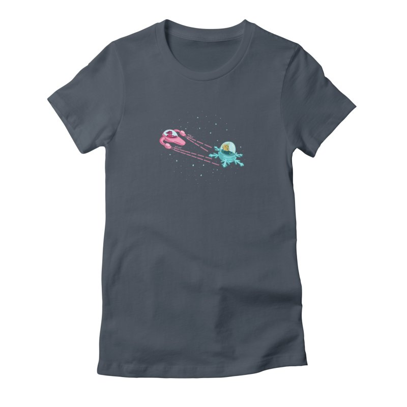 Pew-pew-pewterus!! Women's Fitted T-Shirt by Lupi Art + Illustration