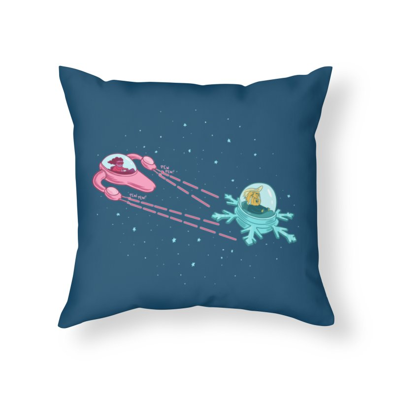 Pew-pew-pewterus!! Home Throw Pillow by Lupi Art + Illustration