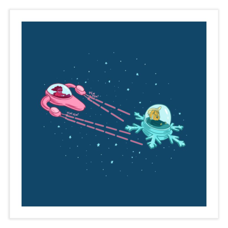 Pew-pew-pewterus!! Home Fine Art Print by Lupi Art + Illustration