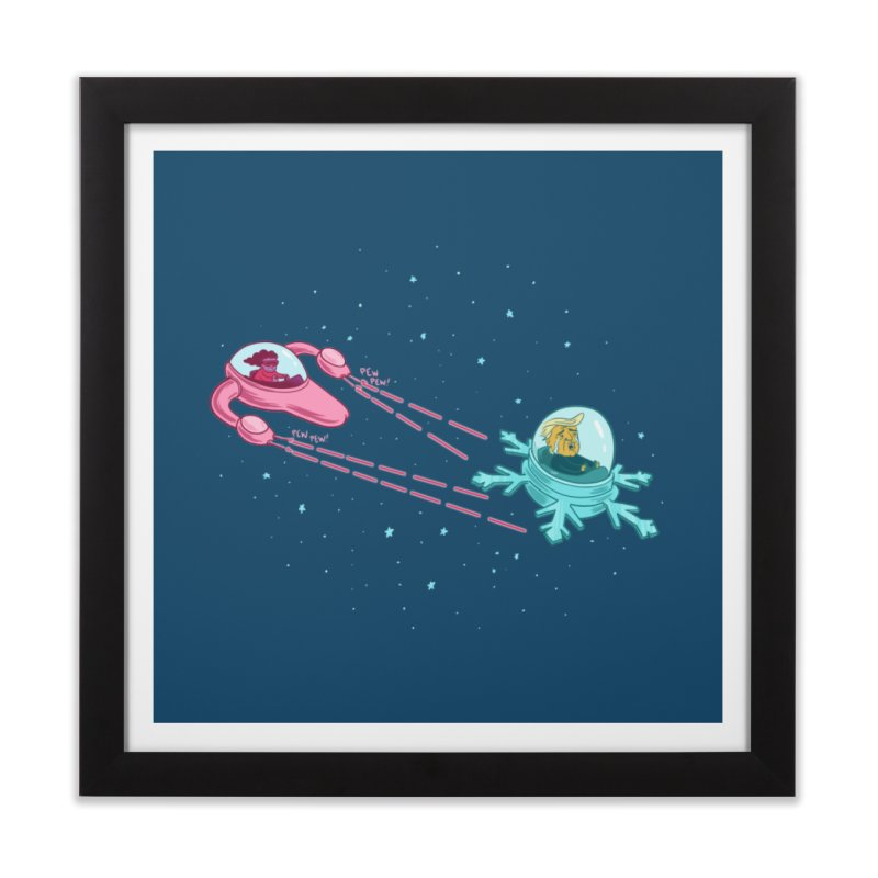 Pew-pew-pewterus!! Home Framed Fine Art Print by Lupi Art + Illustration