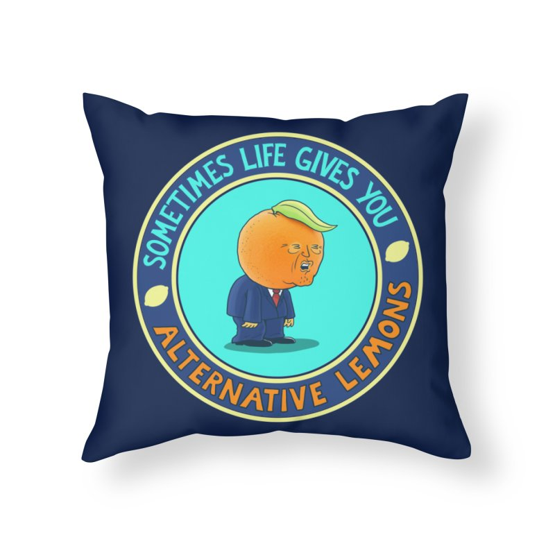 Alternative Lemons Home Throw Pillow by Lupi Art + Illustration