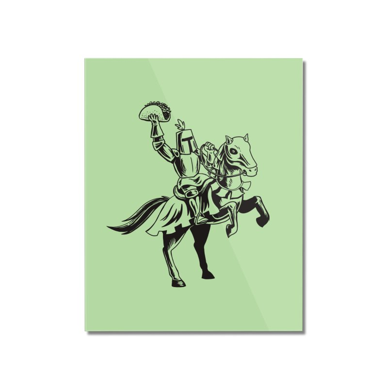 Taco Knight Home Mounted Acrylic Print by Lupi Art + Illustration