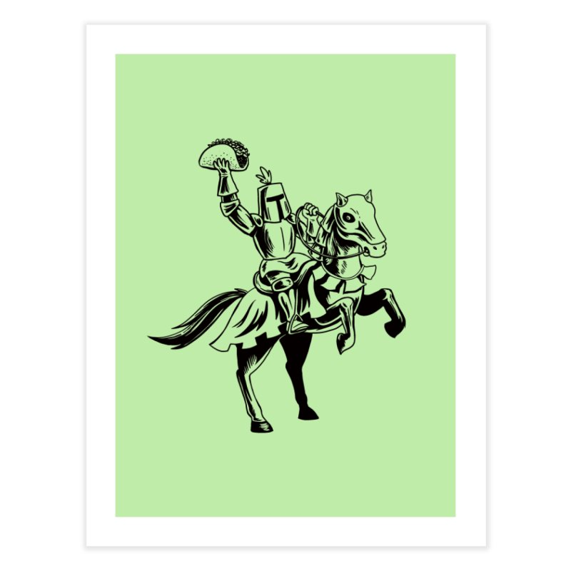 Taco Knight Home Fine Art Print by Lupi Art + Illustration