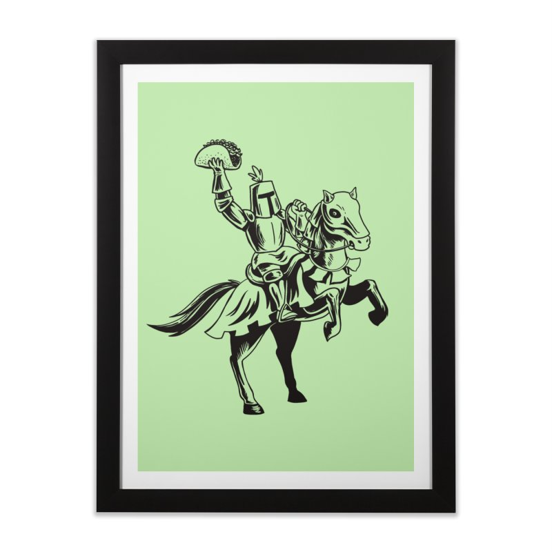 Taco Knight Home Framed Fine Art Print by Lupi Art + Illustration
