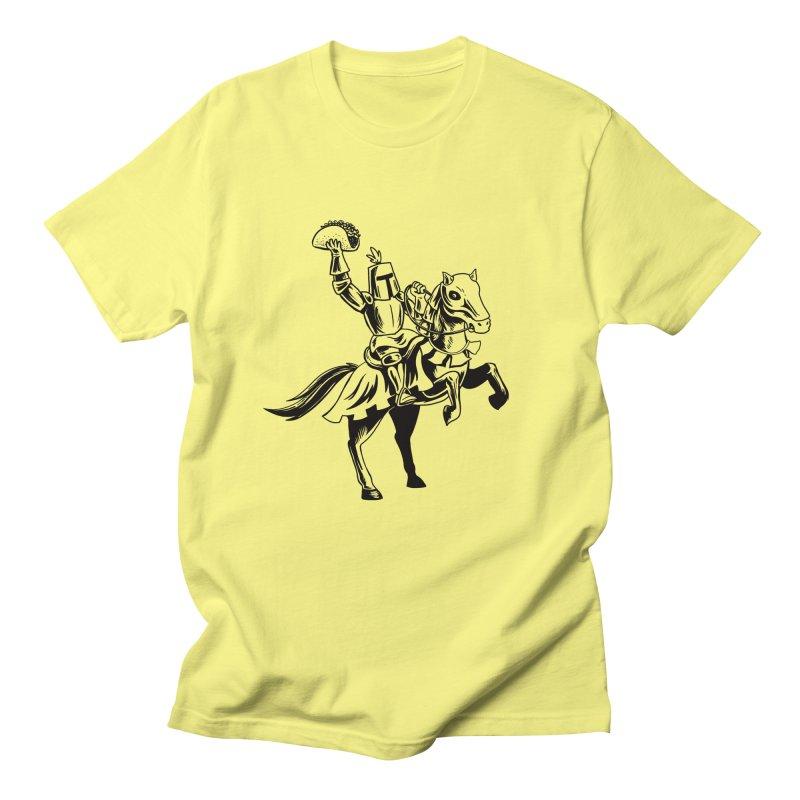 Taco Knight Men's T-Shirt by Lupi Art + Illustration