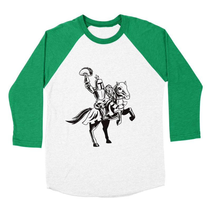 Taco Knight Men's Baseball Triblend Longsleeve T-Shirt by Lupi Art + Illustration