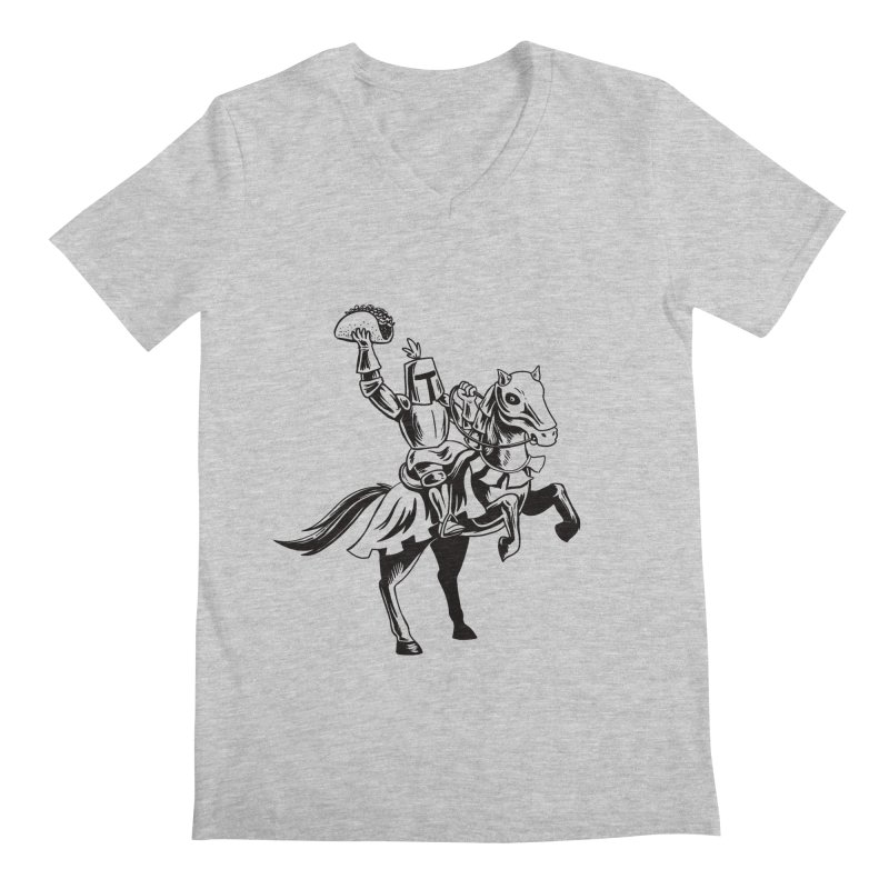 Taco Knight Men's V-Neck by Lupi Art + Illustration