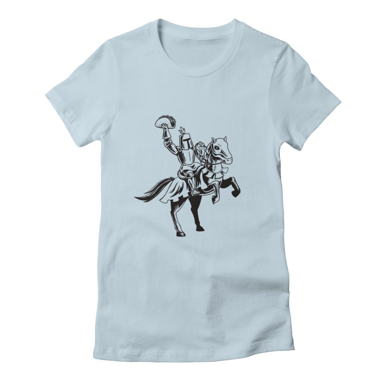 Taco Knight Women's Fitted T-Shirt by Lupi Art + Illustration