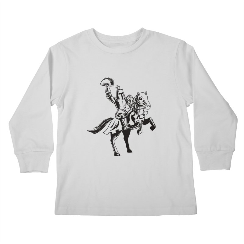Taco Knight Kids Longsleeve T-Shirt by Lupi Art + Illustration