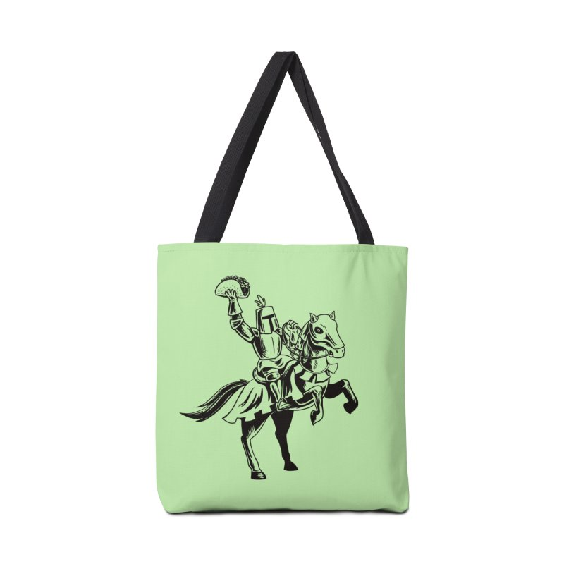 Taco Knight Accessories Bag by Lupi Art + Illustration