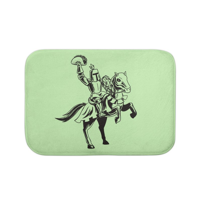 Taco Knight Home Bath Mat by Lupi Art + Illustration