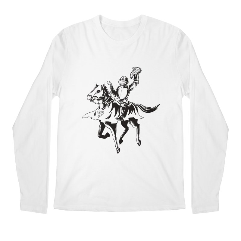 Pizza Knight Men's Longsleeve T-Shirt by Lupi Art + Illustration