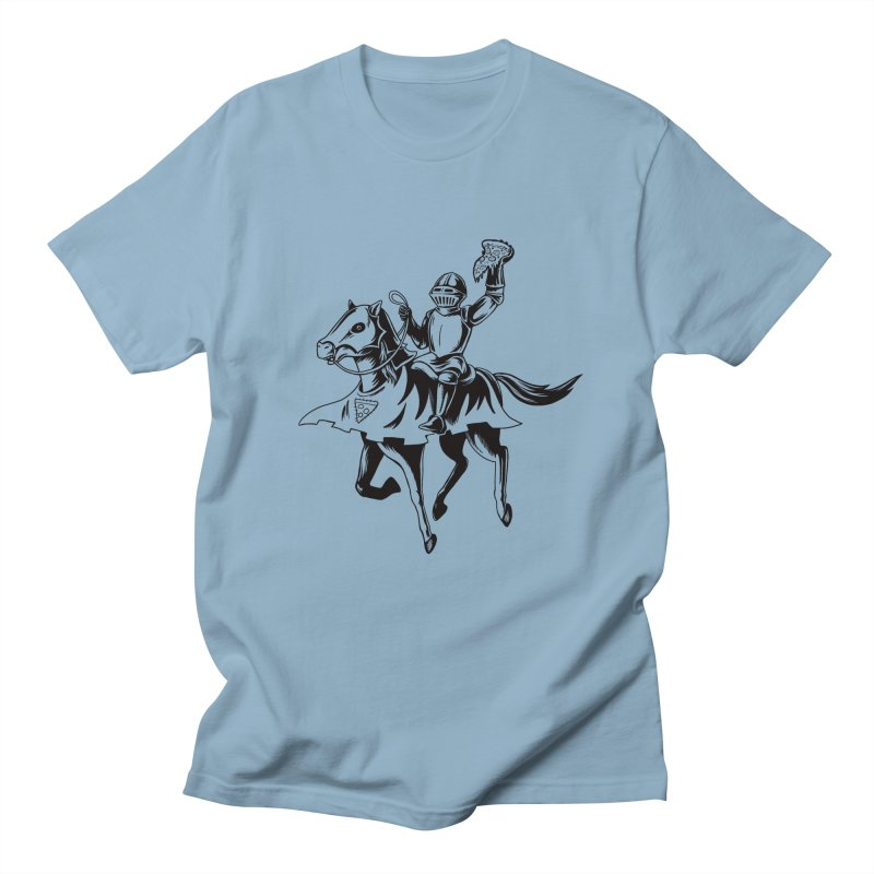 Pizza Knight Men's Regular T-Shirt by Lupi Art + Illustration