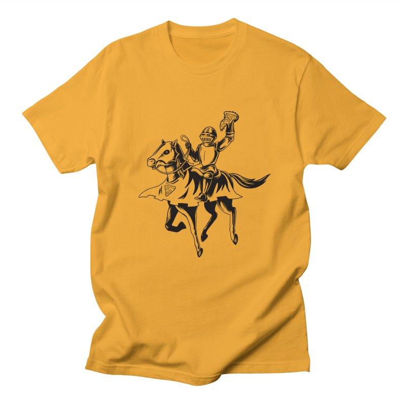 Pizza Knight Men's Regular T-Shirt by Lupi Art + Illustration