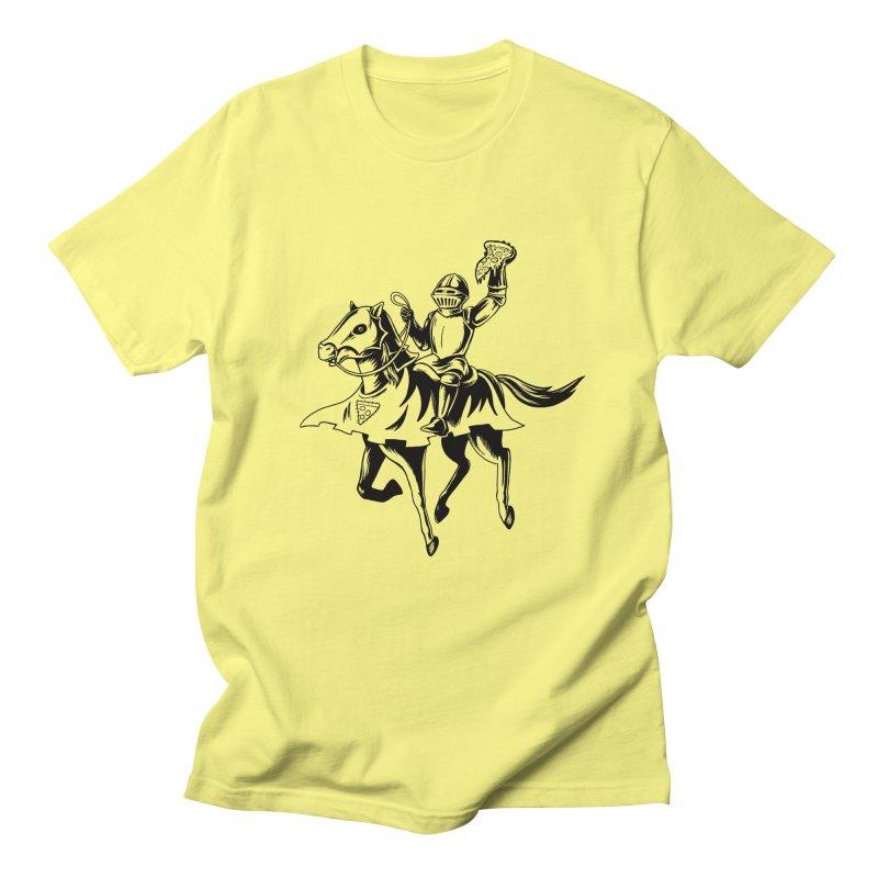 Pizza Knight Men's T-Shirt by Lupi Art + Illustration