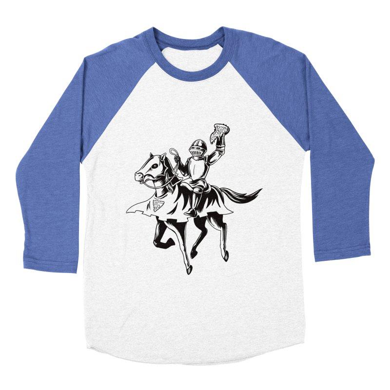 Pizza Knight Men's Baseball Triblend Longsleeve T-Shirt by Lupi Art + Illustration