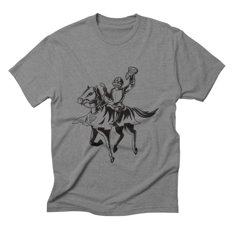 Pizza Knight Men's Triblend T-shirt by Lupi Art + Illustration