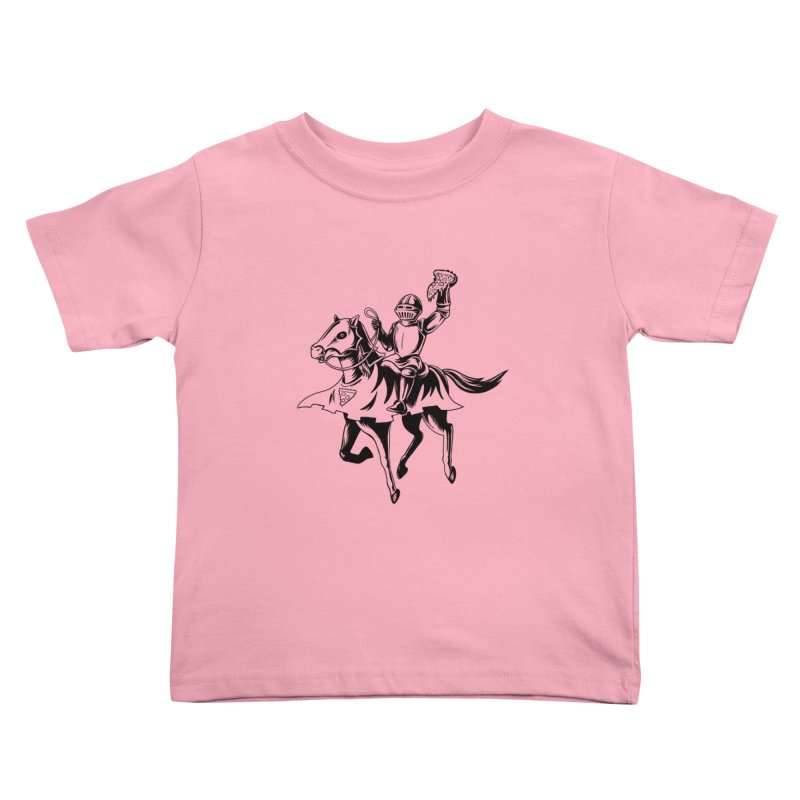 Pizza Knight Kids Toddler T-Shirt by Lupi Art + Illustration