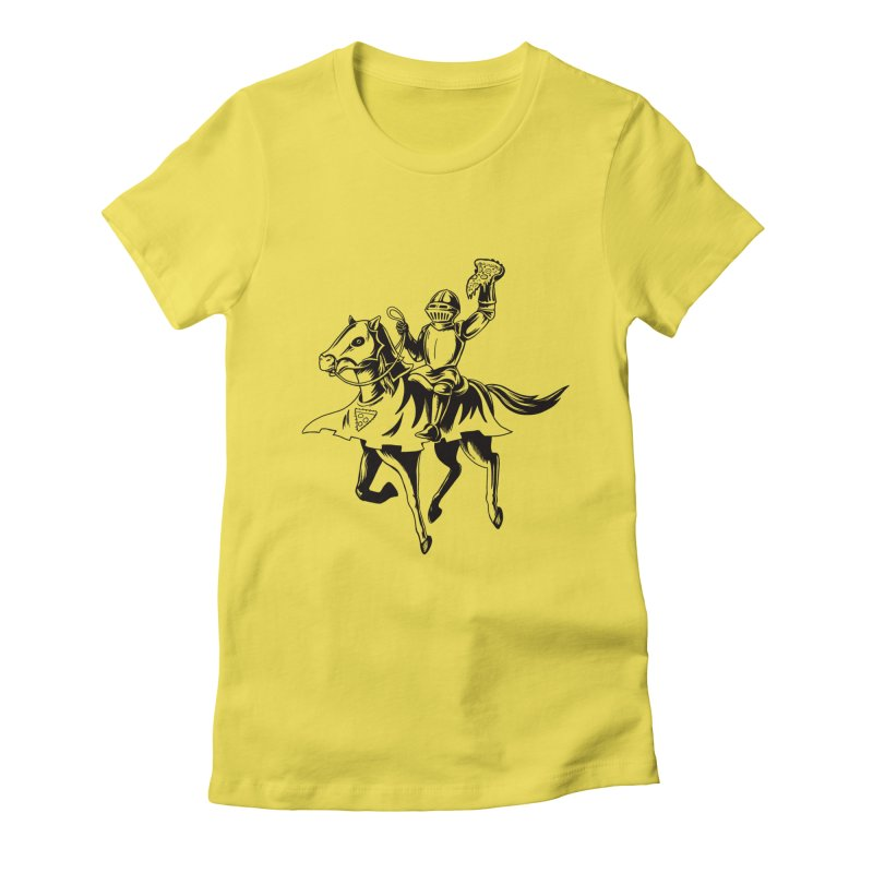 Pizza Knight Women's Fitted T-Shirt by Lupi Art + Illustration