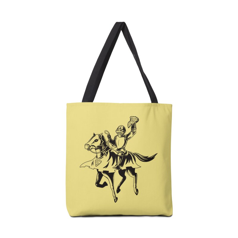 Pizza Knight Accessories Tote Bag Bag by Lupi Art + Illustration