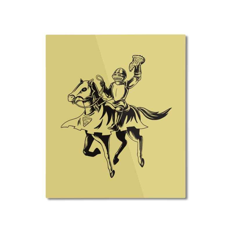 Pizza Knight Home Mounted Aluminum Print by Lupi Art + Illustration