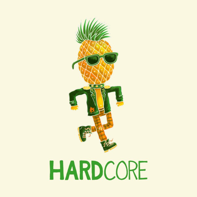Hardcore Men's V-Neck by Lupi Art + Illustration